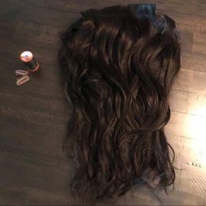 "18""   100% Brazilian hair   extensions"